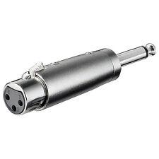 2 St. Adapterstecker Klinke 6,3 mm auf XRL female mono