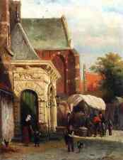 Springer Cornelis A View Of The South Entrance Of The St Pancras Church Enkhuize