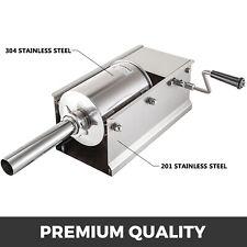 Sausage Stuffer Filler Machine 3l Horizontal Meat Press Maker Stainless Steel