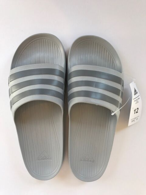 df65646cd76caf Adidas Adult Duramo Slide Shower Sandals Onyx Gray Swimming Shoe Mens 8 10  New