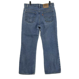 Levi-039-s-VINTAGE-USA-Orange-Tab-517-Jeans-Mens-36-x-29-Medium-Blue-Denim-BootCut
