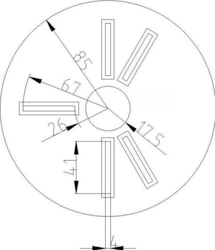 106cm Kreisfix Fräszirkel Oberfräse Fräschablone Kreisschneider 3cm