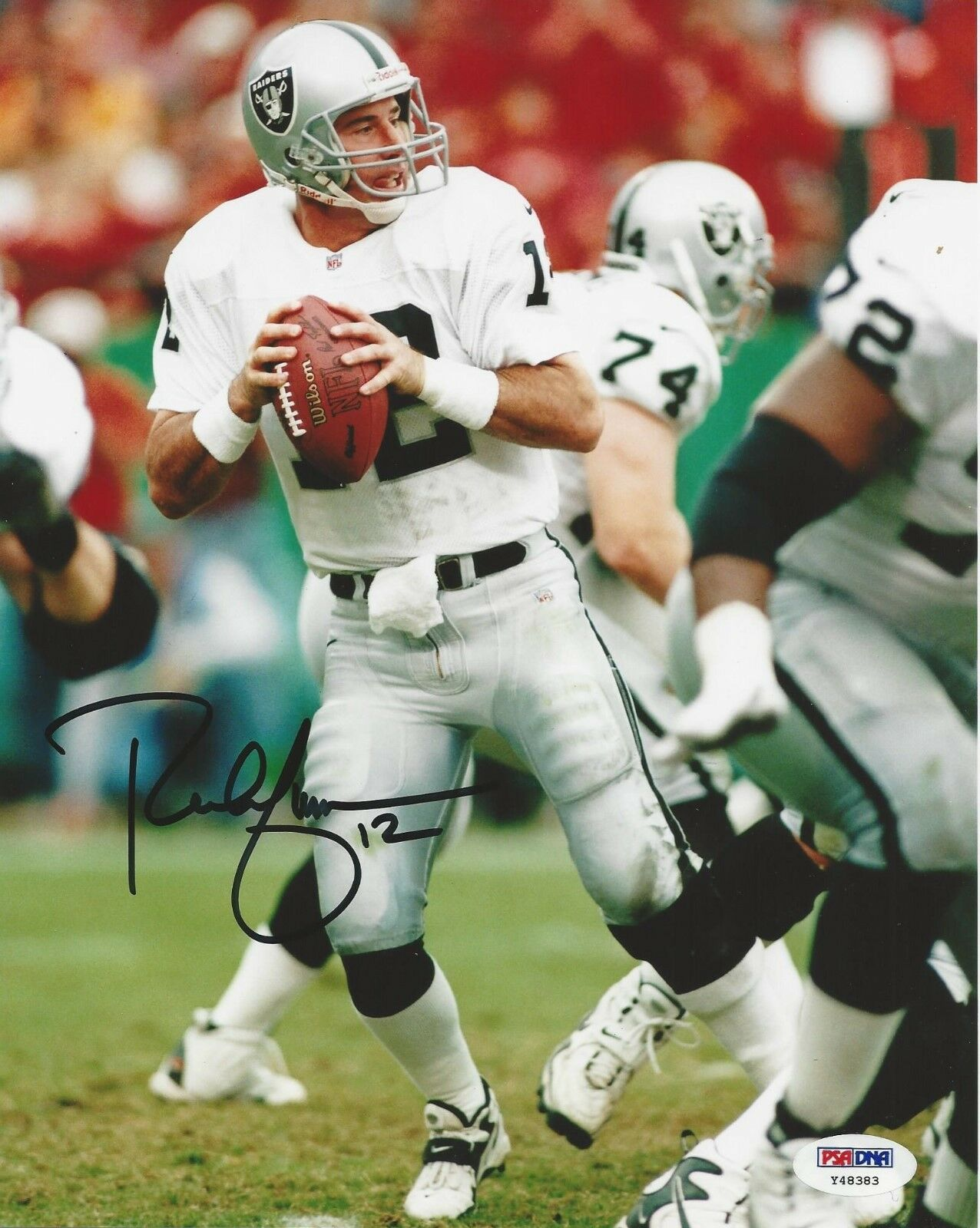 Rich Gannon Oakland Raiders signed 8x10 Photo PSA/DNA # Y48383