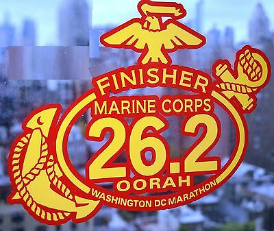 2020 any year Marine Corps ULTRA Marathon 50K 31MILS Red Gold Foil Decal 6X4