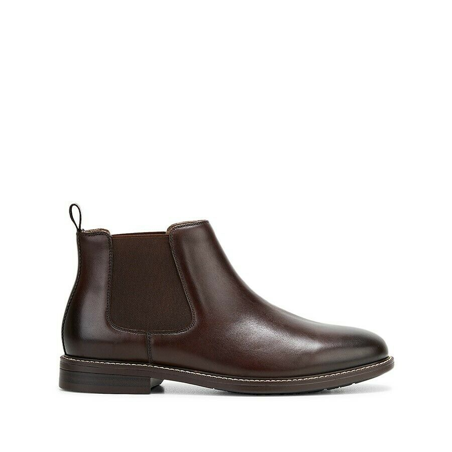 Hush Puppies Hanger Boots Mens Slip On Pull Shoes Leather Cognac Boot
