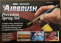 Badger BA2003 (BA200-3) Siphon Feed 200 Precision Airbrush Set NIB