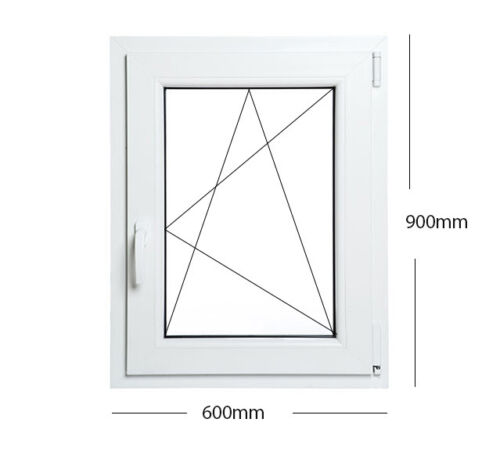 OTTIMO! Finestre in PVC con COPRIFILO BIANCO Aluplast ID 4000 varie misure