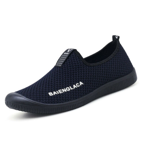 Mens Lightweight Sneakers Slip On Shoes Comfy Trainers Casual Walking Shoes Size