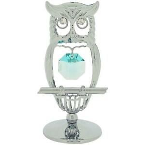 Crystocraft-Chrome-Plated-Keepsake-Gift-Ornament-Owl-made-with-Swarvoski-Cryst