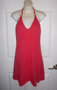 06b81ada7e91 Victoria's Secret Bra Tops Coral Pink Halter Summer Dress Sundress ...