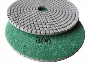 "5/"" premium concrete diamond polishing pad//pads 400 grit"