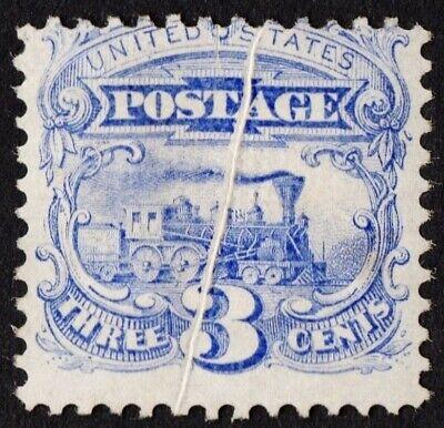 "Stamps 19th Century: Unused Generous Us # 114 *unused Rg H* { Pre-print Paper Fold Error } Beauty ""scarce Efo Variety"