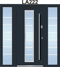 Haustür WH94 Aluminium mit Kunststoff mit2 Seitenteil LA222+Fingerdruck Berlin
