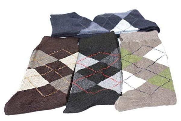 12 Paia Business/tempo Libero Uomo Calze Argyle Socks Tg. 39-42/43-46 Guidare Un Commercio Ruggente