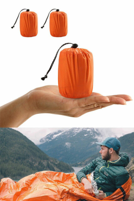 Reusable Emergency Sleeping Bag Thermal Waterproof Survival Campin Travel Bag hi