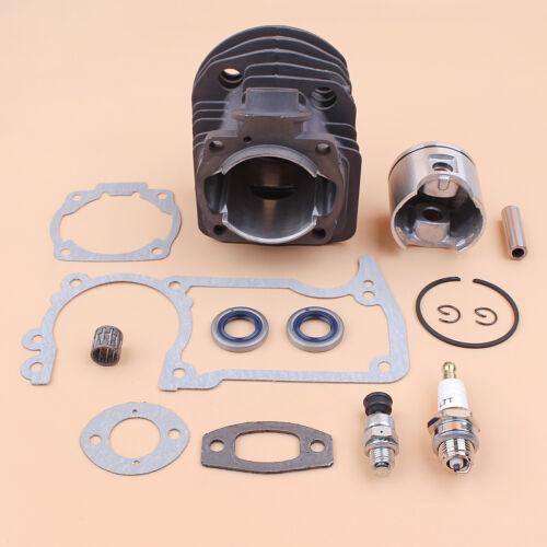 46mm Nikasil Cylinder Piston Gaskets Kit Fit Husqvarna 51 55 Rancher Chainsaw