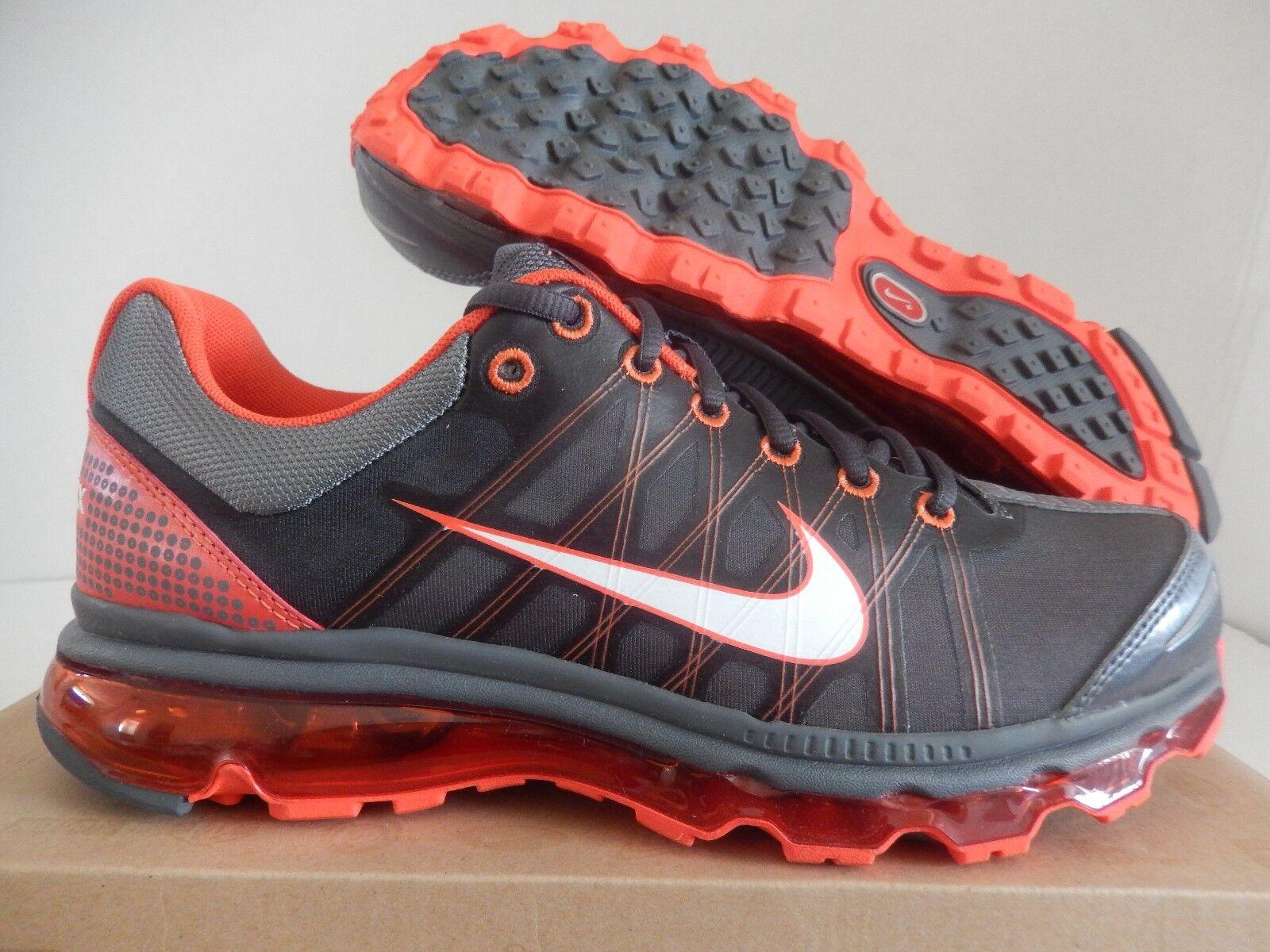 Nike air max   2009 dark grey-white-vivid orange sz 8 [486978-018]