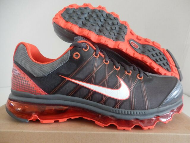 7b4a62b6c160 Nike Air Max 2009 Mens 486978-018 Dark Grey Vivid Orange Running ...