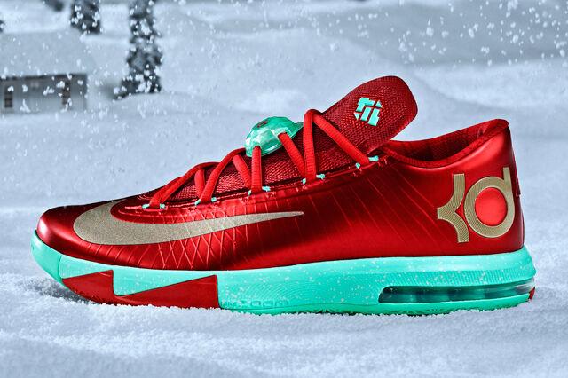 Nike KD gran 6 vi rojo Navidad comodo gran KD descuento ccf5cd