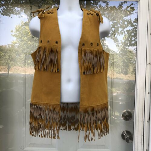 VTG Expressions by Campus Suede Leather Vest Women