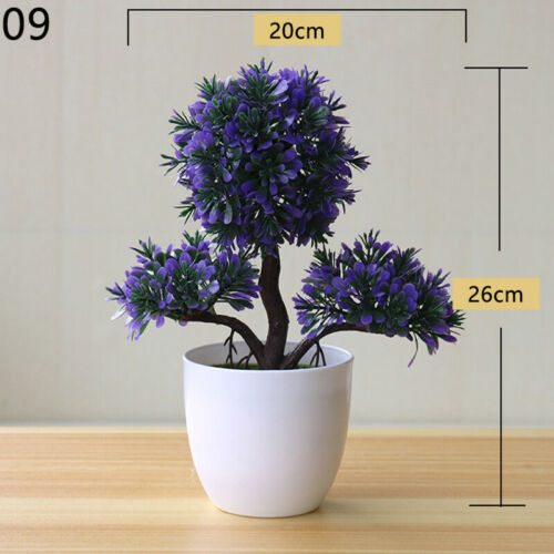 Bonsai Simulation Artificial Flowers Plants Garden In Pot Pine Tree Home Decor