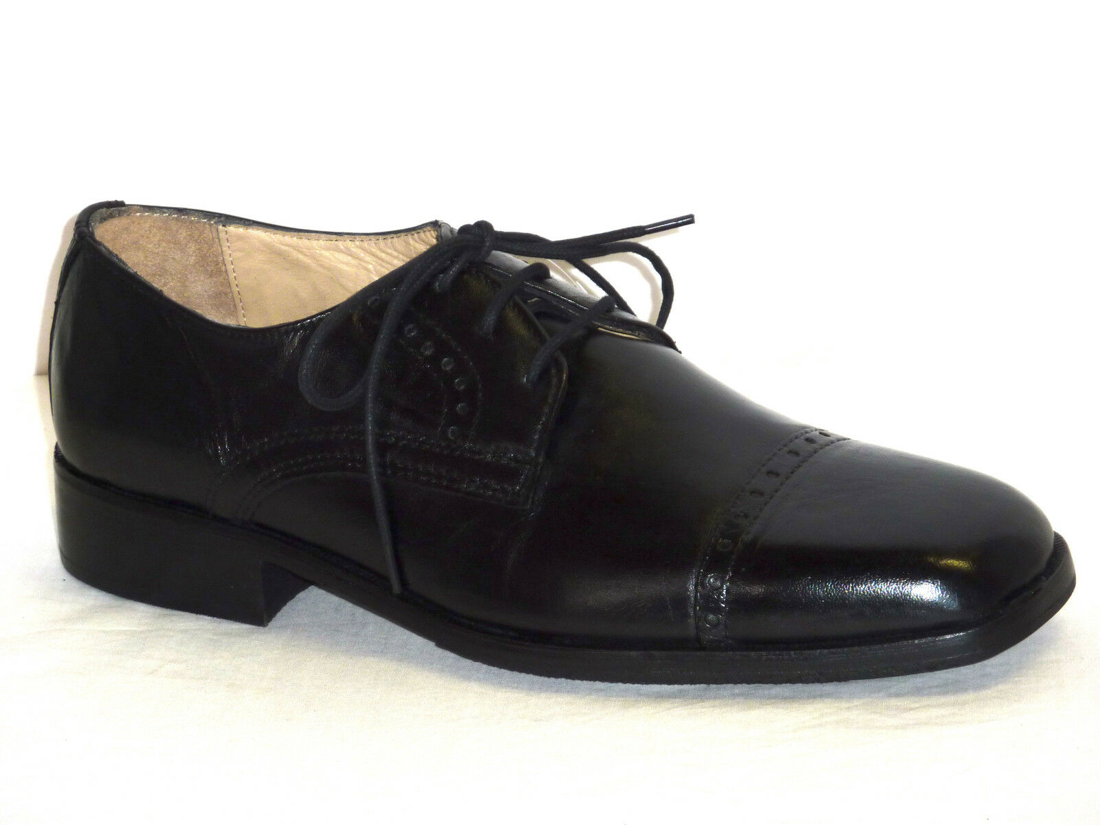 shoes men ALLACCIATE PELLE black ELEGANTI MODA COMODA n. 41