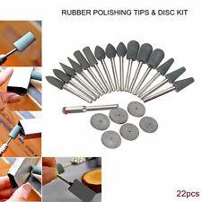 22Pcs Kit De Pulido consejos y los discos de goma Brocas Para Hobby Herramientas Rotativas (30)