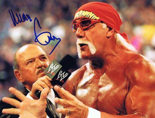 w//COA WWF WWE Hulk Hogan Mean Gene Okerlund Signed Autographed Photo