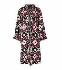 Tory Burch Mandeville Coat Blazer Women 0 Fringe Woven Mosaic Print NWT Ret$1695