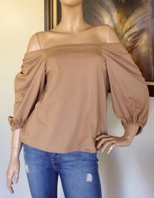 c756c8453c0 Uniqlo Women Brown 2-way 3/4 Sleeve off Shoulder T-shirt Size XS for sale  online | eBay