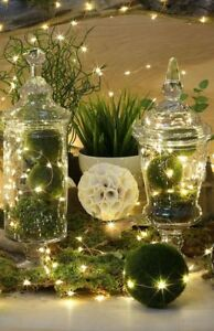 10-20-40-Warm-White-LED-Battery-Micro-Rice-Wire-Copper-Fairy-String-Lights-Party