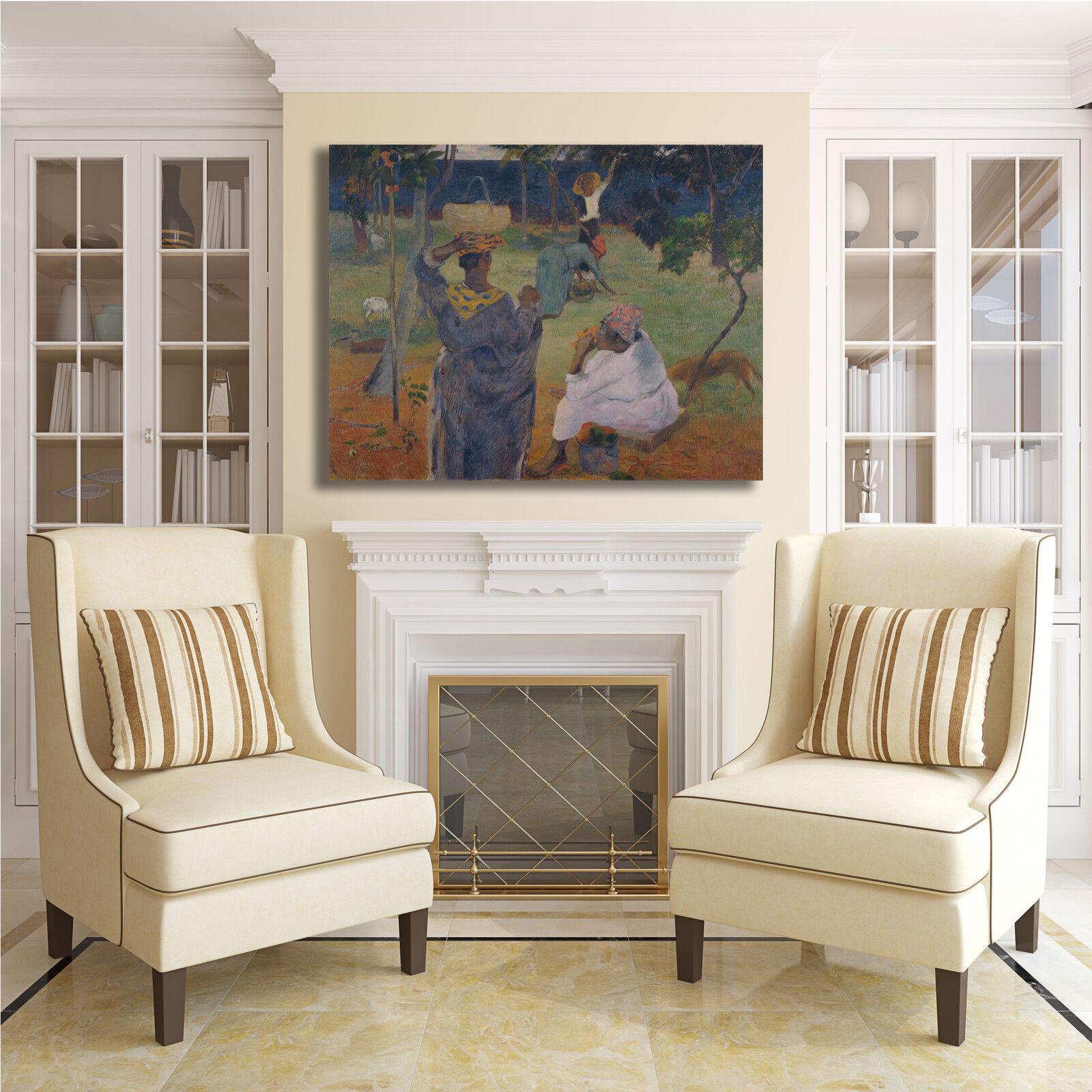 Gauguin Femmeghi a Martinica design quadro stampa tela dipinto telaio telaio telaio arRouge o casa   Soldes  d13e28