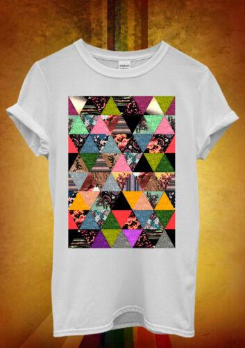 Floral Aztec Ethnic Print Hipster Men Women Unisex T Shirt Tank Top Vest 1087