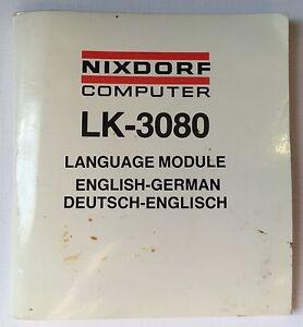 vintage lexicon nixdorf lk 3080 english german instruction manual rh ebay com Wildgame Innovations Manuals Wildgame Innovations Manuals