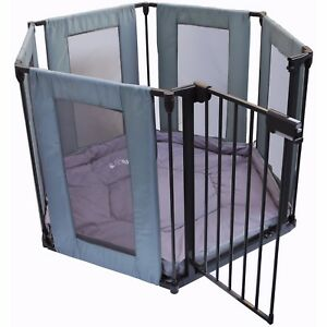 iSafe-FABRIC-Metal-Baby-Playpen-3in1-Fire-Guard-Room-Divider-Safety-Gate