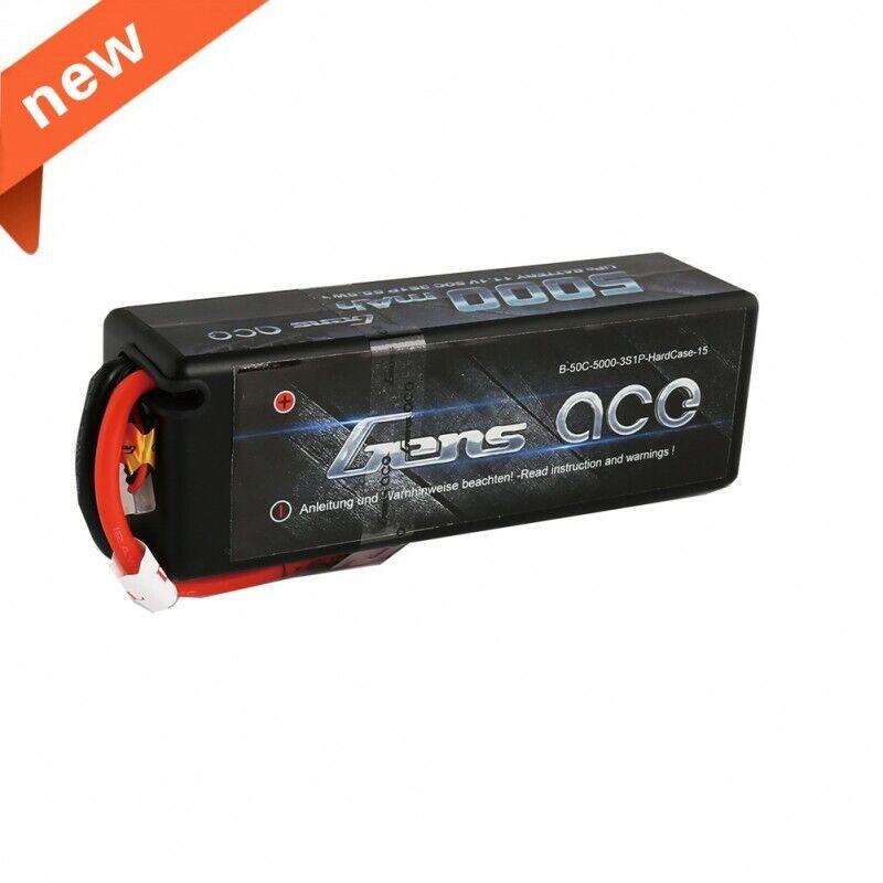 Gens Ace 5000 mAh 3S 11.1 V 50 C 100 C Hardcase Lipo Batería Deans para RC coche carro