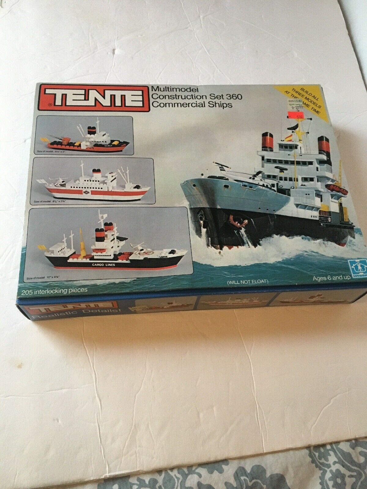 New NIB Tente 1979 Multimodel Construction Set 360 Commercial Ships Unused