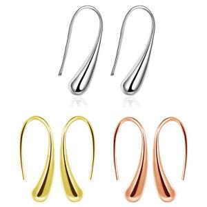 Silver-Plated-Threader-Drop-Dangle-Hook-Earrings-L18