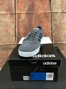 8aa6eb90001e Adidas Men s VL Court 2.0 Grey Navy Skateboarding Shoes Size 12 New ...