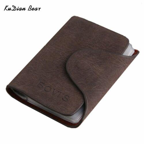 Bovis carte de crédit porte-embouts 20 Business Card Holder RFID Hommes cartes détenteurs