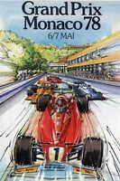 Vintage 1978 Monaco Grand Prix Auto Racing Poster Print 24x16