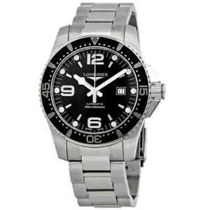 Longines-Hydroconquest-Black-Dial-Automatic-Men-039-s-Watch-L3-841-4-56-6