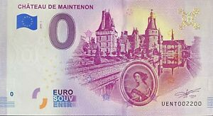 BILLET-0-EURO-CHATEAU-DE-MAINTENON-FRANCE-2019-NUMERO-2200