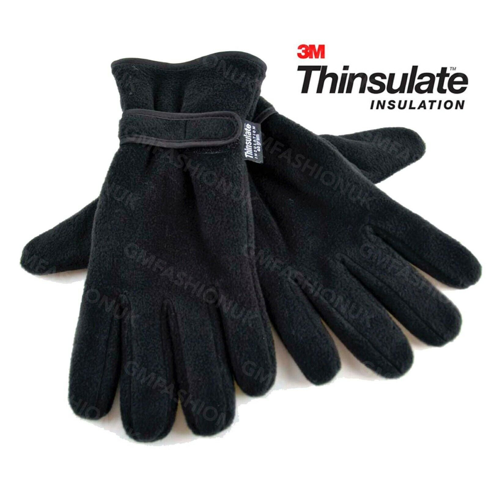 Mens Gloves Thinsulate Thermal Insulation Fleece Lined Adults Warm Winter Wear