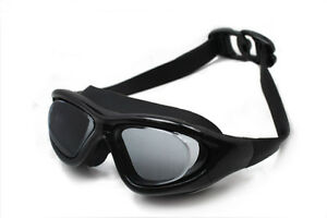 Top Grade UV Protection/Waterproof/Anti-Fog Lens Black Swimming Goggles