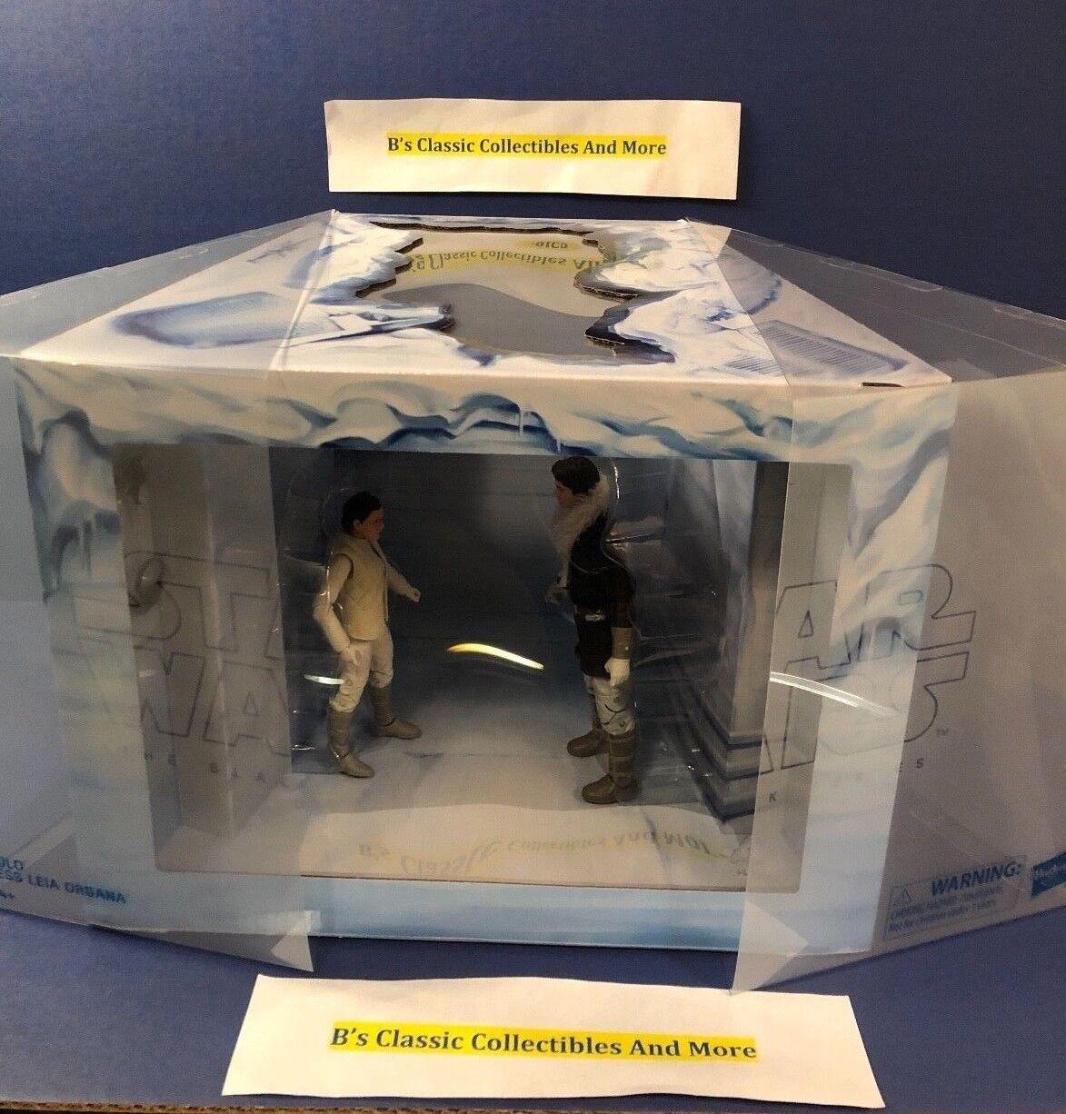 Guerra DE LAS GALAXIAS la serie negra Hoth Han Solo & La Princesa Leia Organa 6  Figuras Nuevo