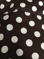 Brother Sister Brown White Polka Dot Fabric 19 X 45 Quilting 100% Cotton