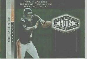 MICHAEL-VICK-2001-PLAYOFF-HONORS-ROOKIE-JERSEY-PATCH-CARD-180-725-RC-NICE