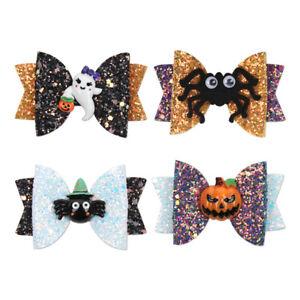 1Pcs-3-034-Halloween-Glitter-Pumpkin-Hair-Bow-with-Clip-Funny-Sequins-Bat-Hairpins