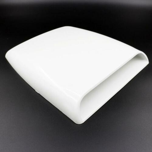 Universal White Car Air Flow Intake Hood Decorative Scoop Vent Bonnet Cover New